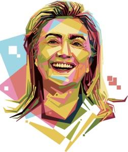 free-hilary-clinton-vector-portrait